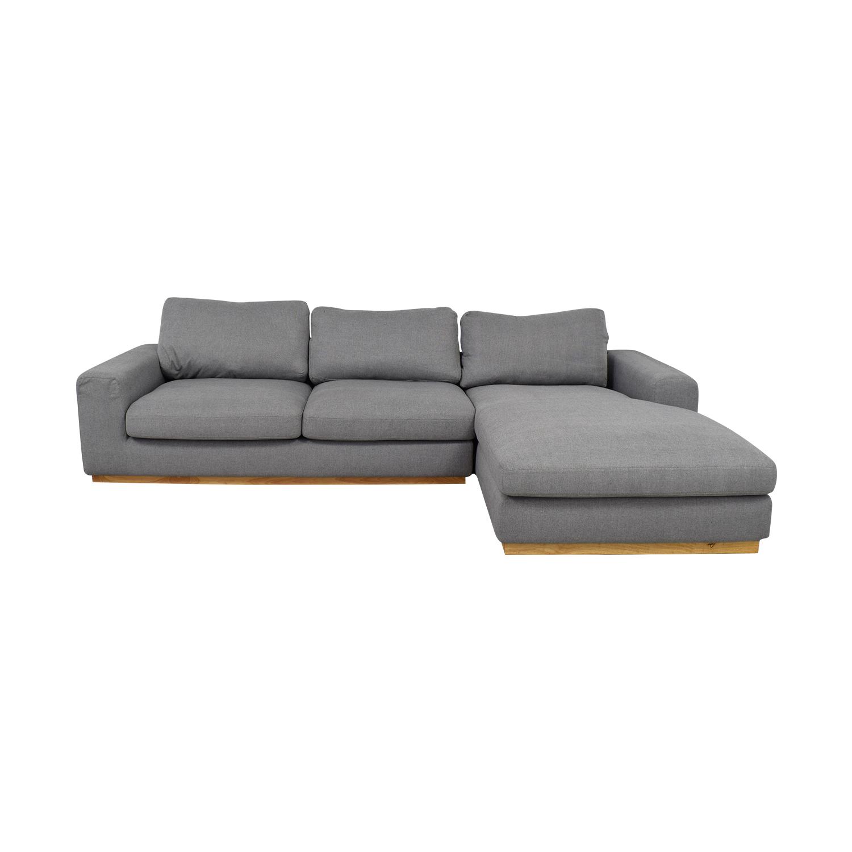 shop Rove Concepts Noah Grey Chaise Sectional Rove Concepts