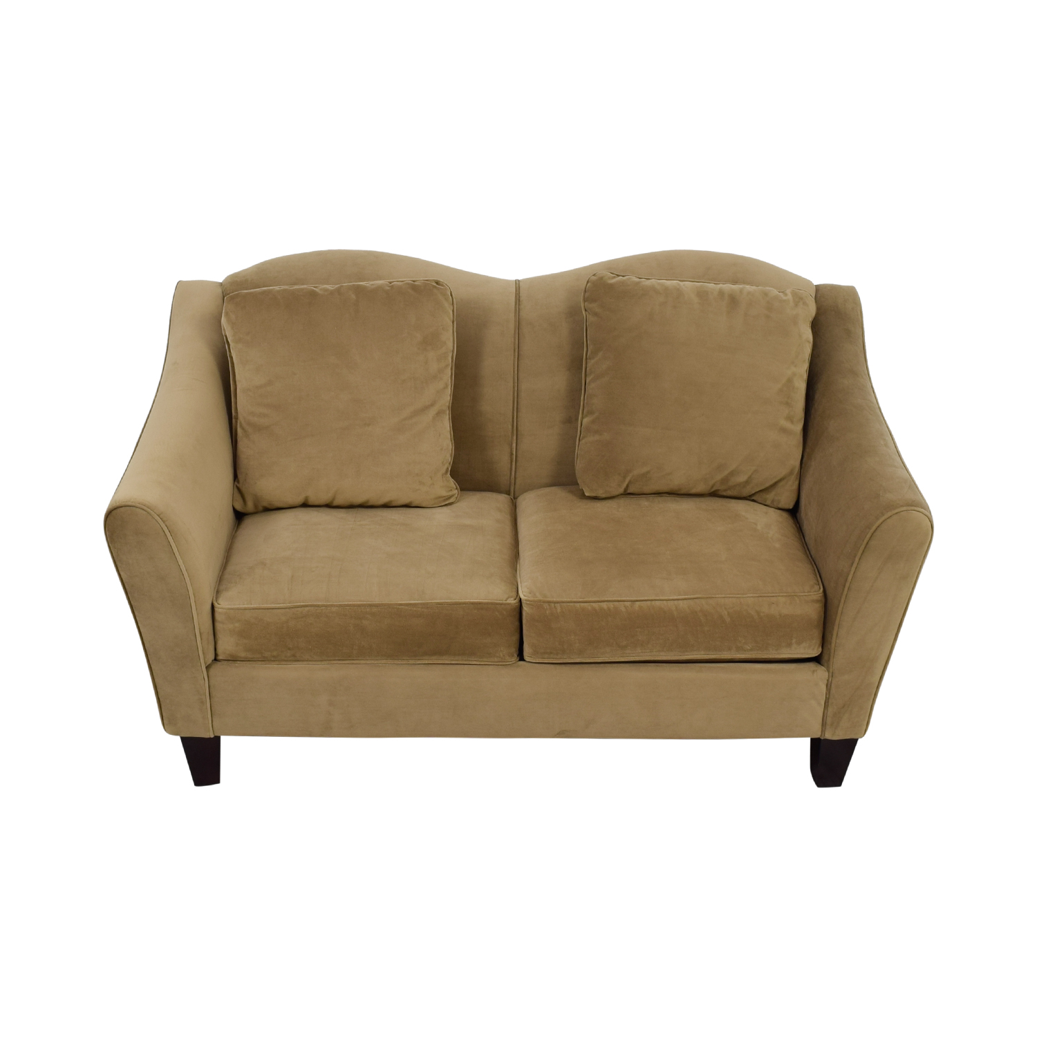 Raymour & Flanigan Raymour & Flanigan Beige Two-Cushion Loveseat for sale