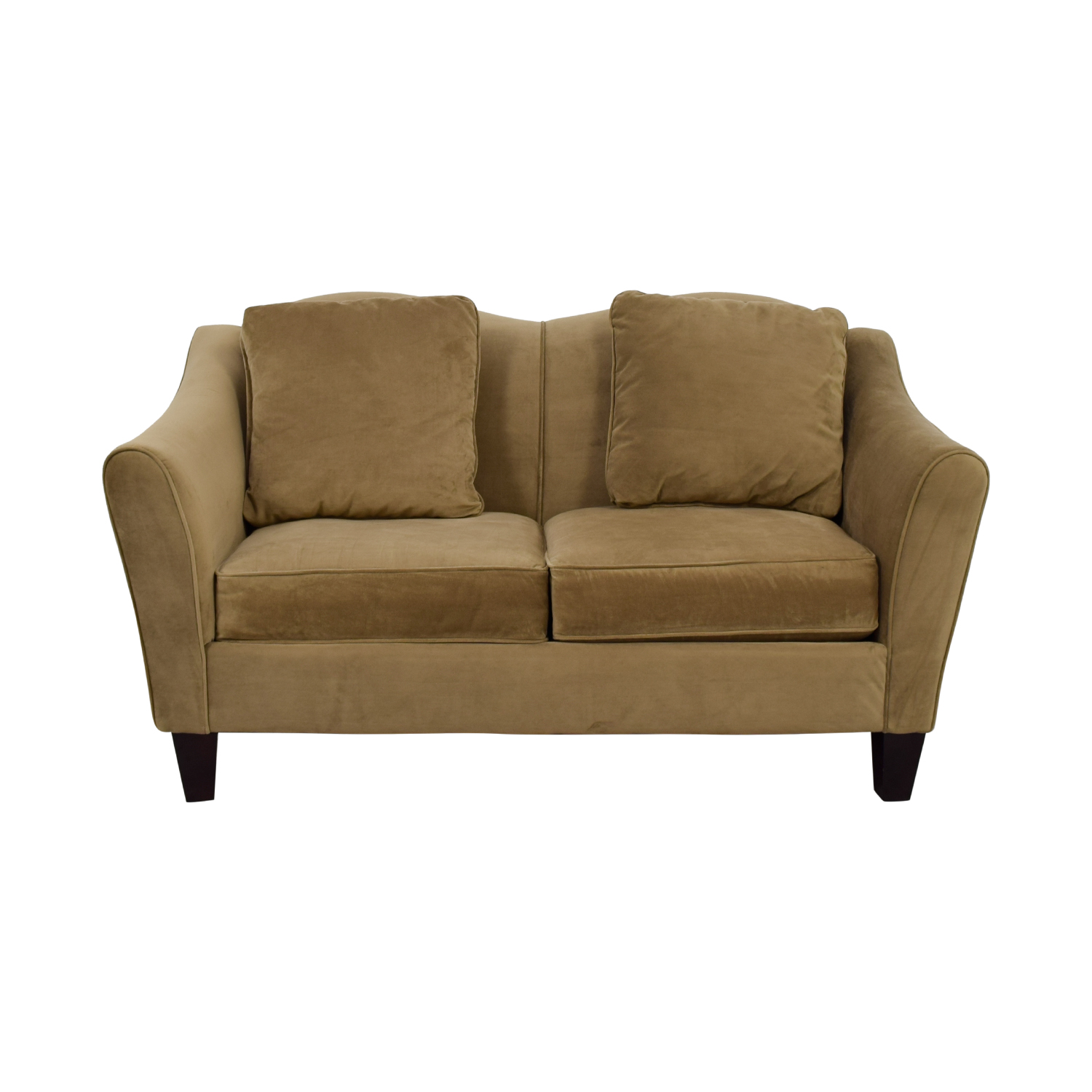 Raymour & Flanigan Beige Two-Cushion Loveseat sale