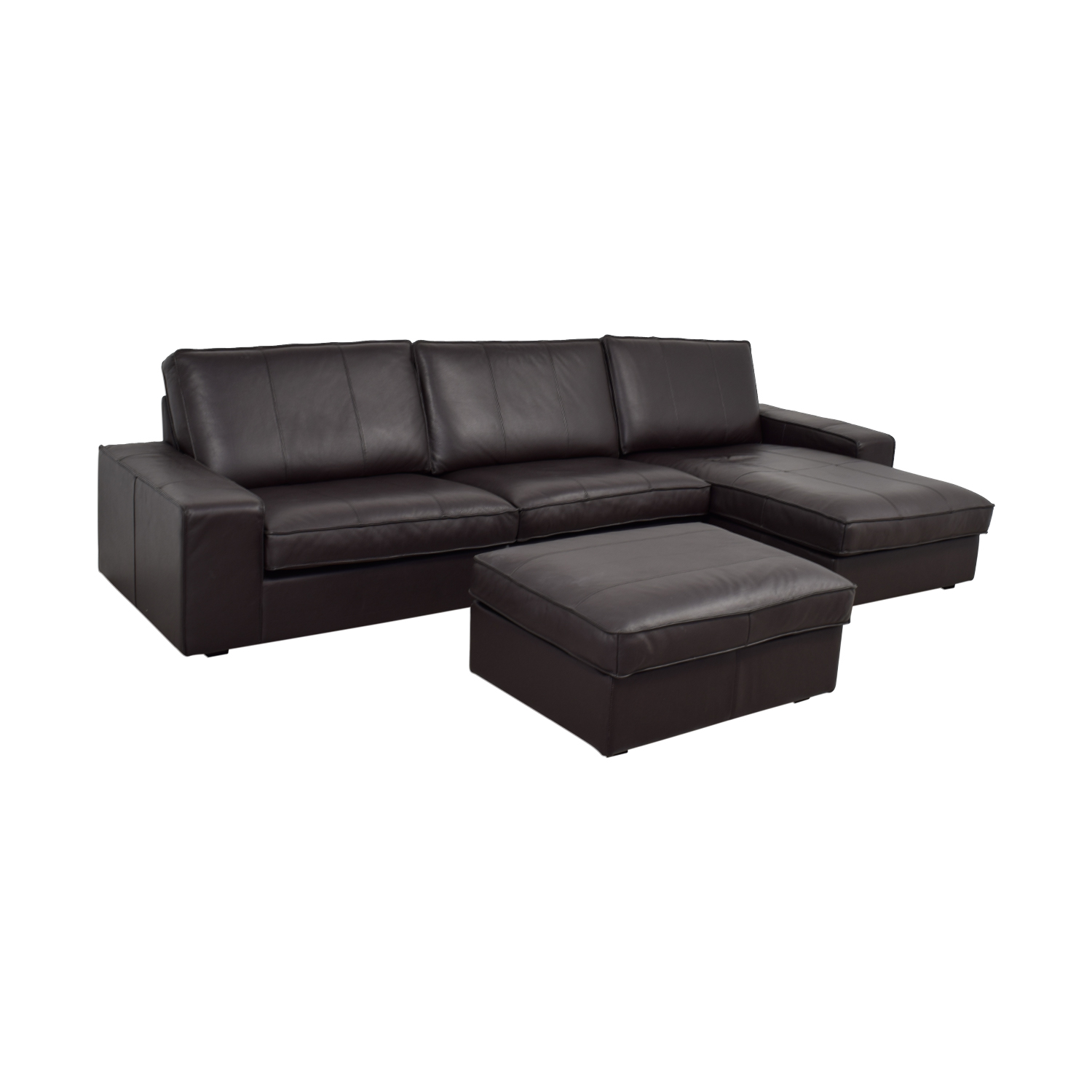 81% OFF - IKEA IKEA Kivik Chaise Sectional with Ottoman / Sofas