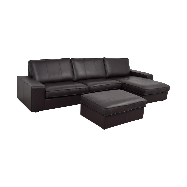 Ikea Sectional Sofa With Chaise: IKEA IKEA Kivik Chaise Sectional With Ottoman