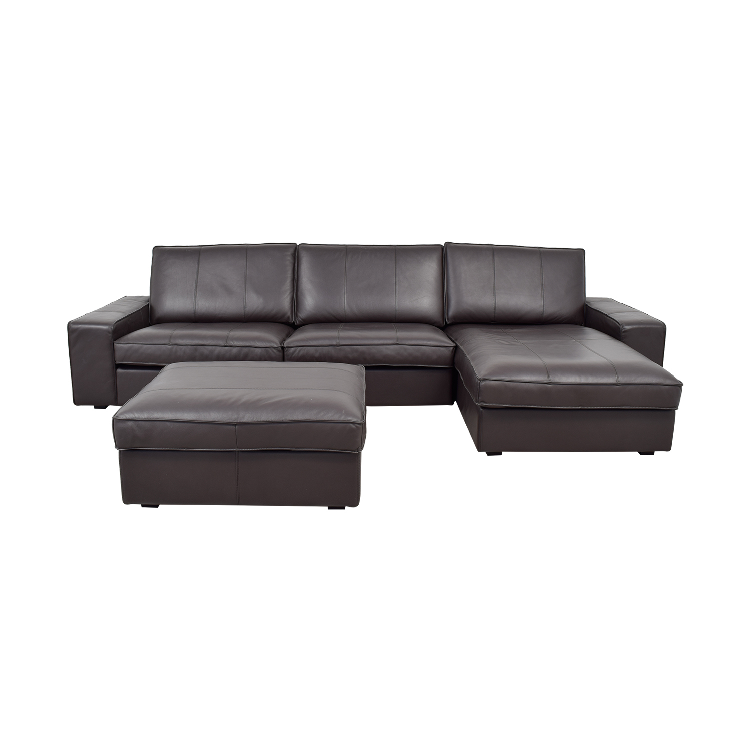 IKEA IKEA Kivik Chaise Sectional with Ottoman dimensions