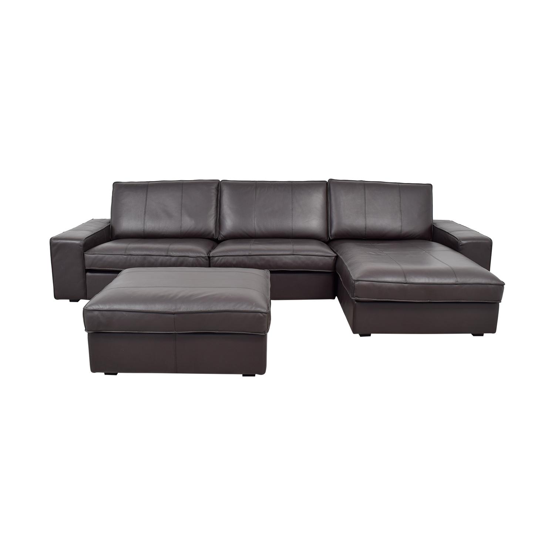 81% OFF - IKEA IKEA Kivik Chaise Sectional with Ottoman / Sofas