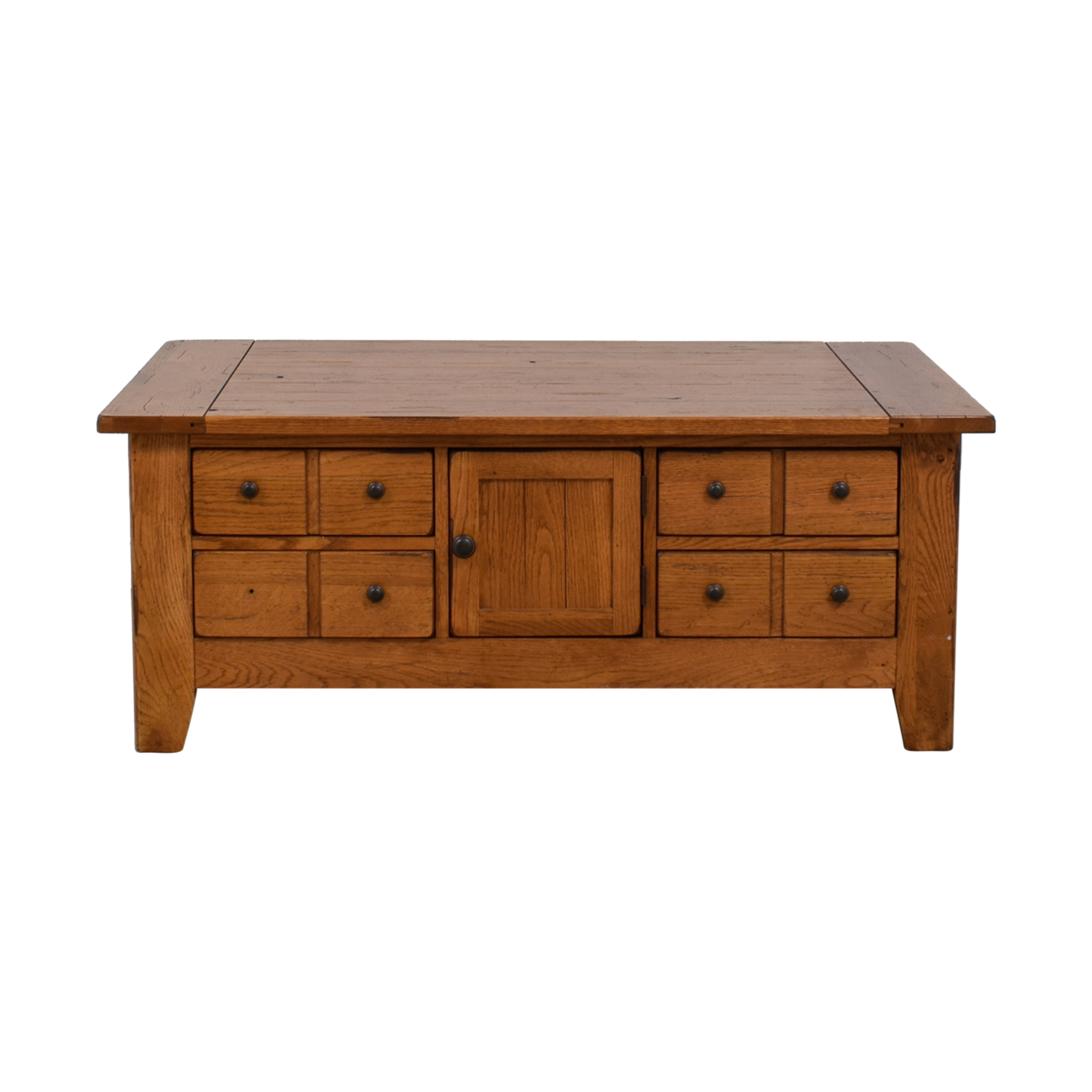 shop Broyhill Natural Wood Coffee Table with Storage Broyhill Tables