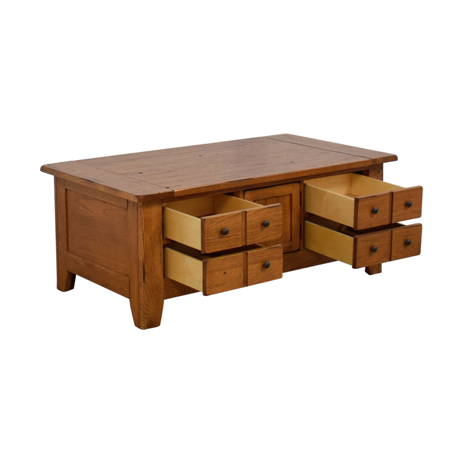 Natural Wood Coffee Table.79 Off Broyhill Furniture Broyhill Natural Wood Coffee Table With Storage Tables