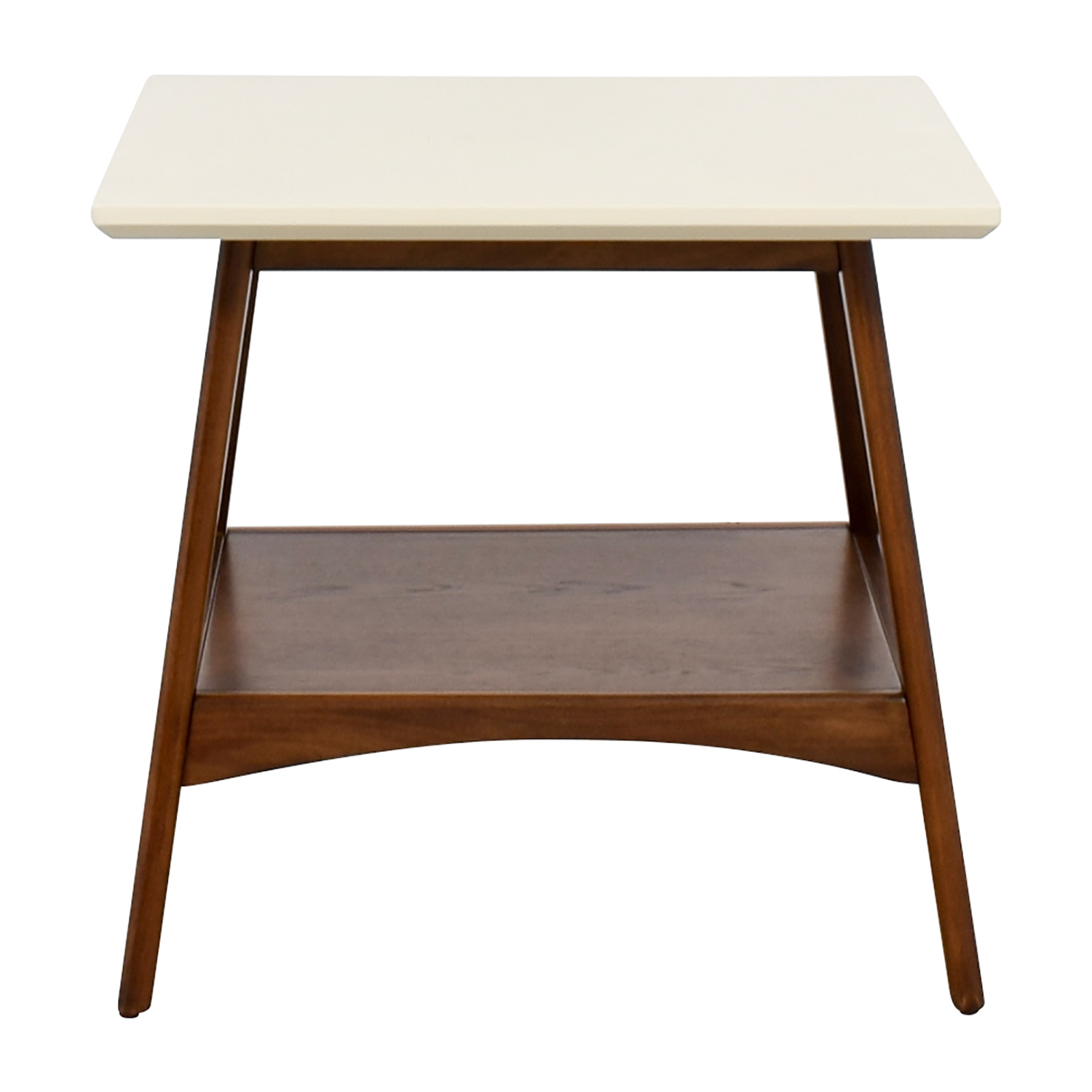 shop Madison Park Erin White and Wood End Table Madison Park
