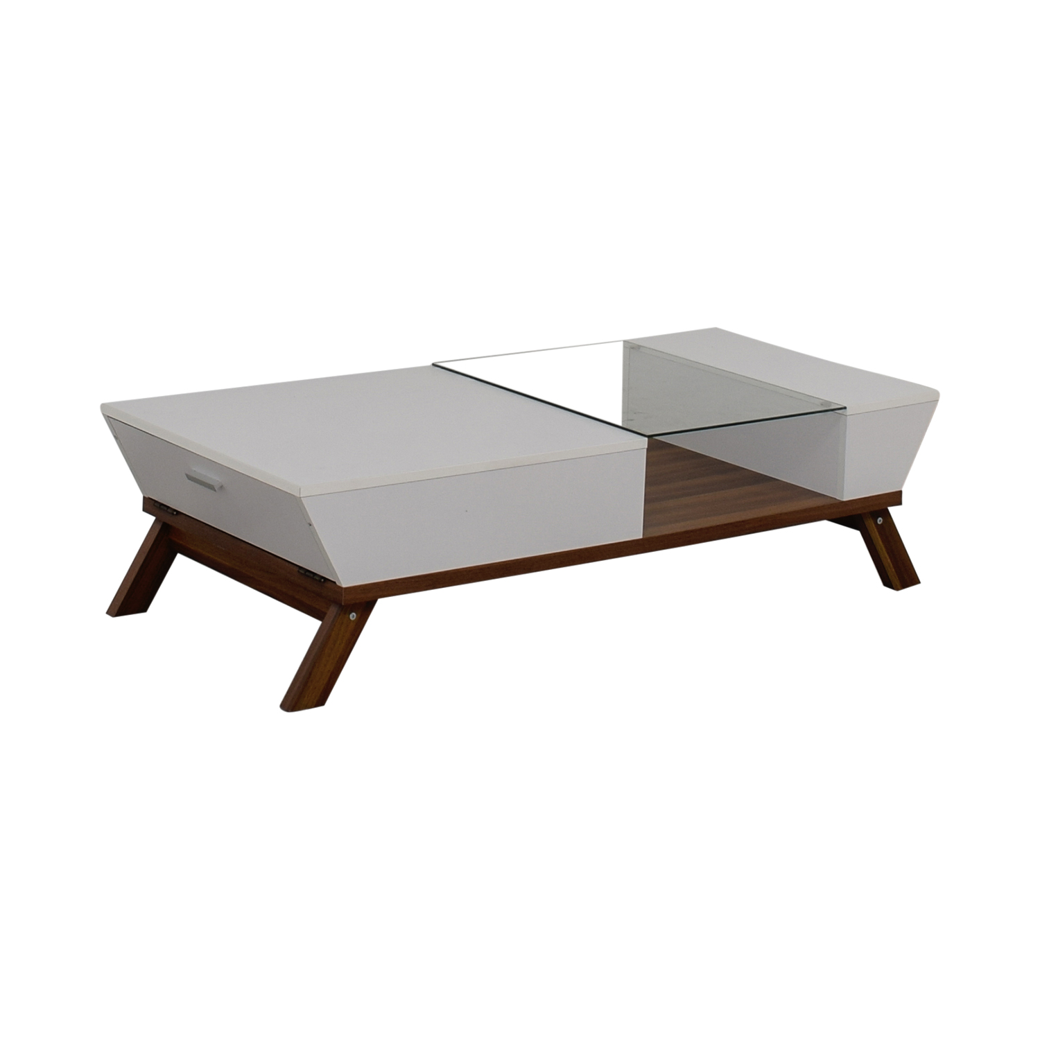 buy Mercury Row Mercury Row White Wood and Glass Modern Coffee Table online
