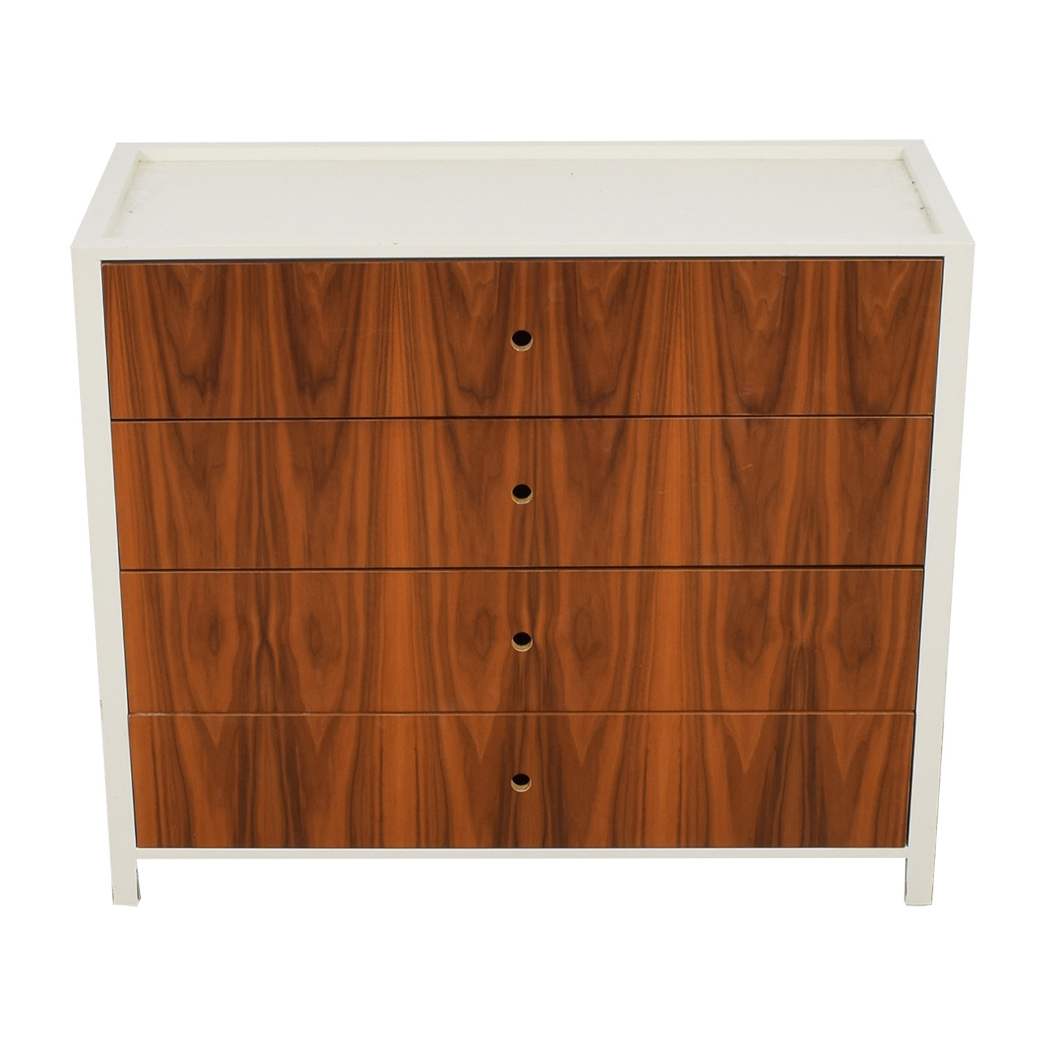 shop Ducduc Parker White and Wood Dresser Changing Table Ducduc Dressers