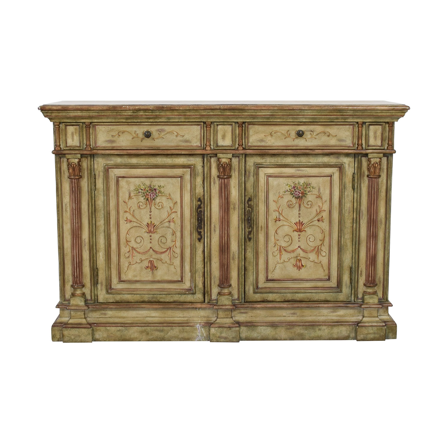 Hooker Furniture Hooker Furniture Seven Seas Creme Scroll Painted Sideboard second hand