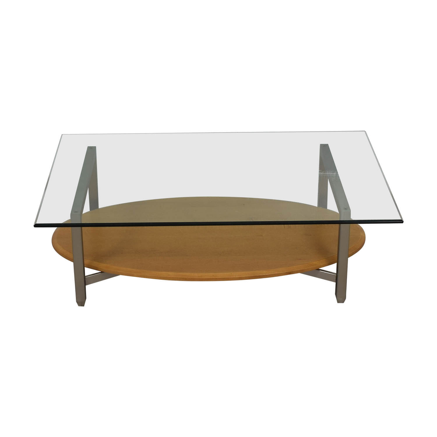 Ethan Allen Tuscan Coffee Table: Ethan Allen Ethan Allen Glass Metal Wood Coffee