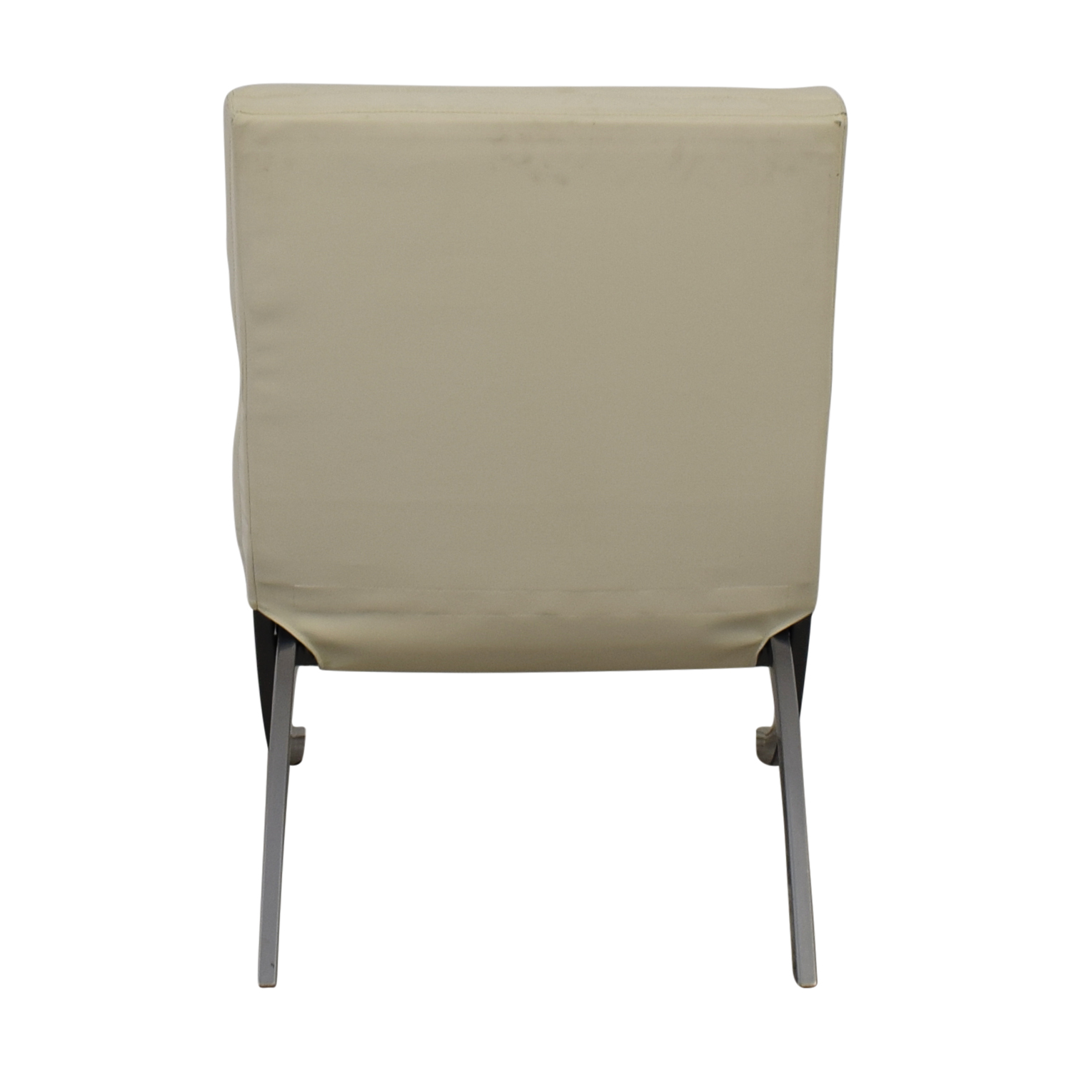 Dimensions Dimensions White Leather Accent Chair Chairs