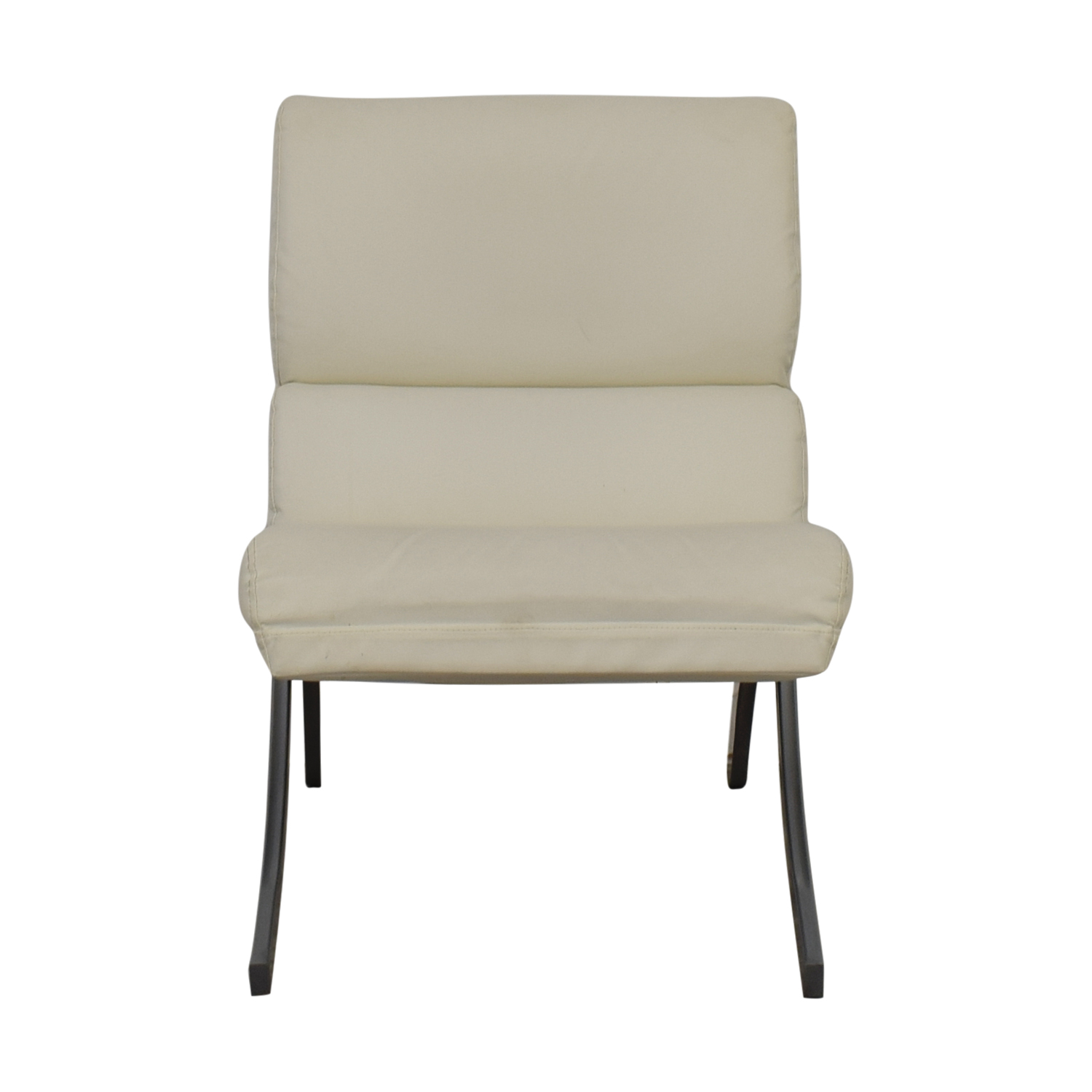 Dimensions Dimensions White Leather Accent Chair