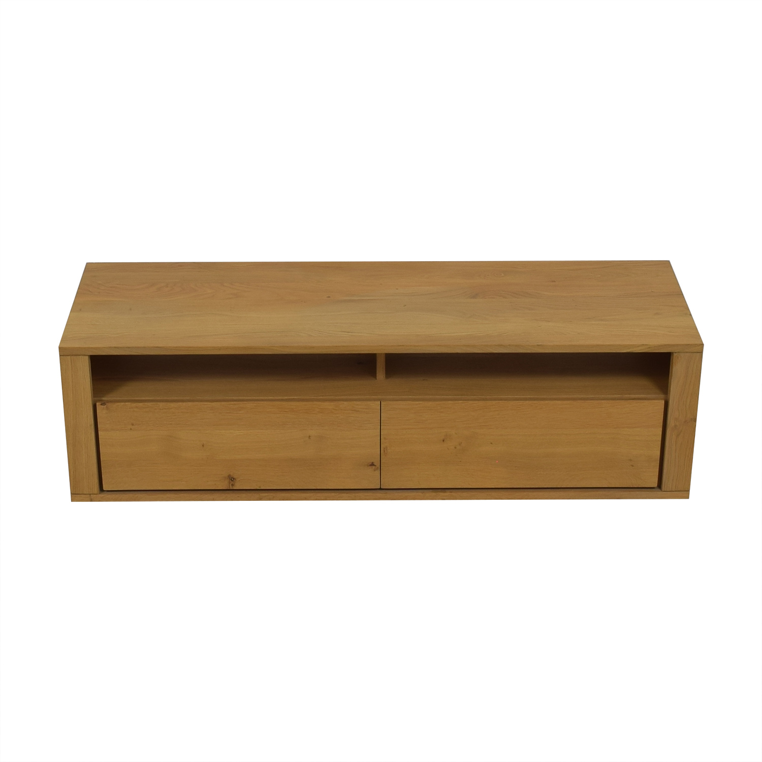 buy Natural Wood Two-Drawer TV Stand