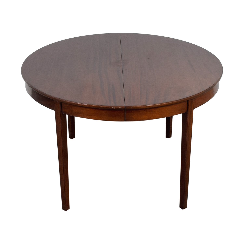 Jacob Kjaer Jacob Kjaer Wyeth Round Extendable Dining Table for sale