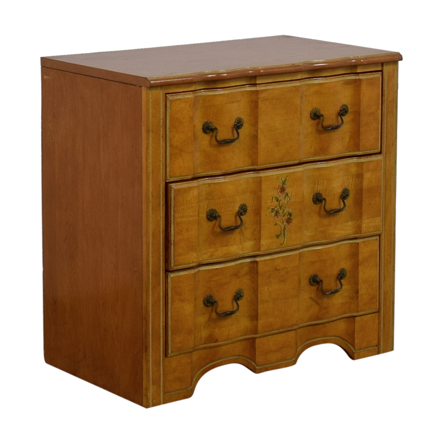 Vintage Painted Three-Drawer Chest of Drawers used