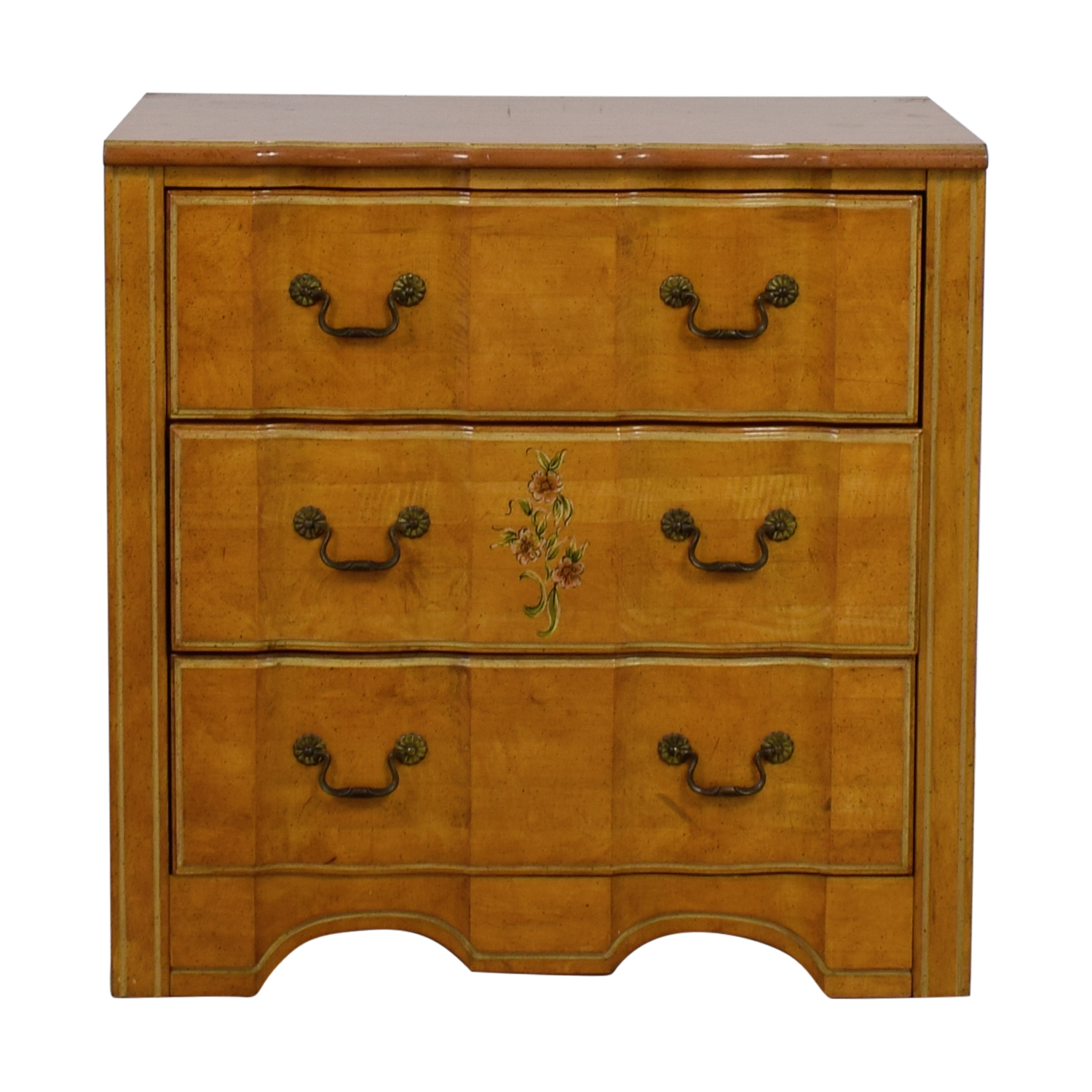 Vintage Painted Three-Drawer Chest of Drawers nj