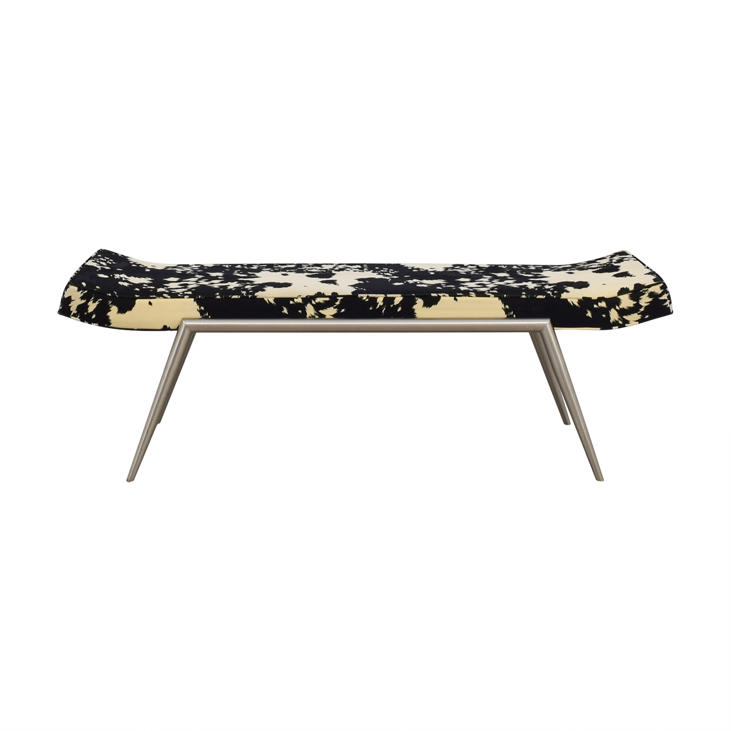 Black and White Upholstered Bench dimensions