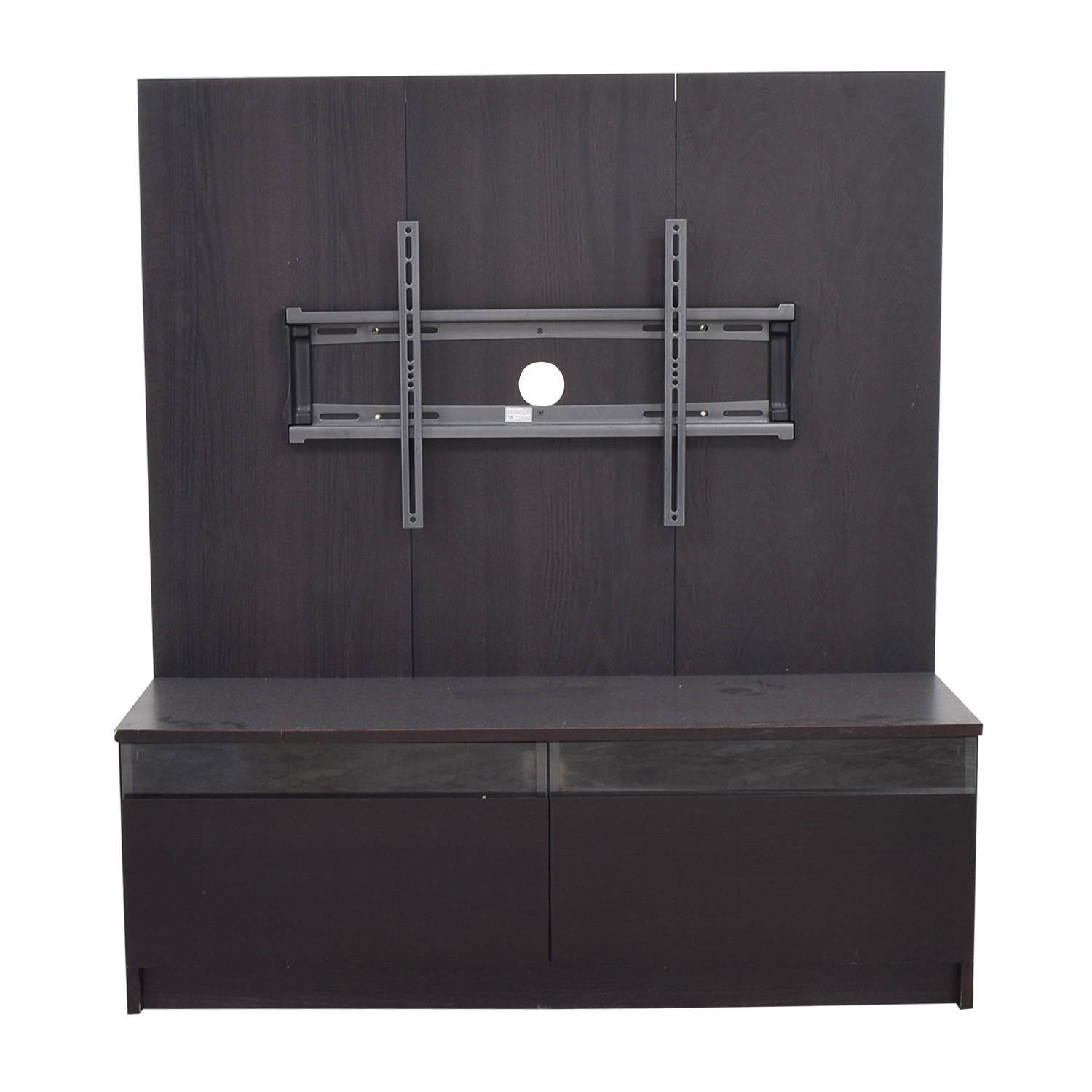 Two-Drawer with Back Panel TV Cabinet / Storage
