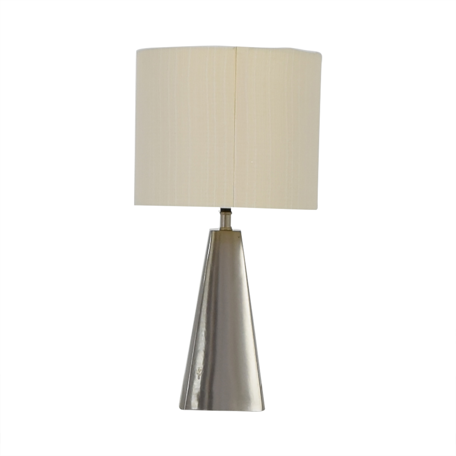 Crate & Barrel Crate & Barrel Brushed Silver Table Lamp Silver