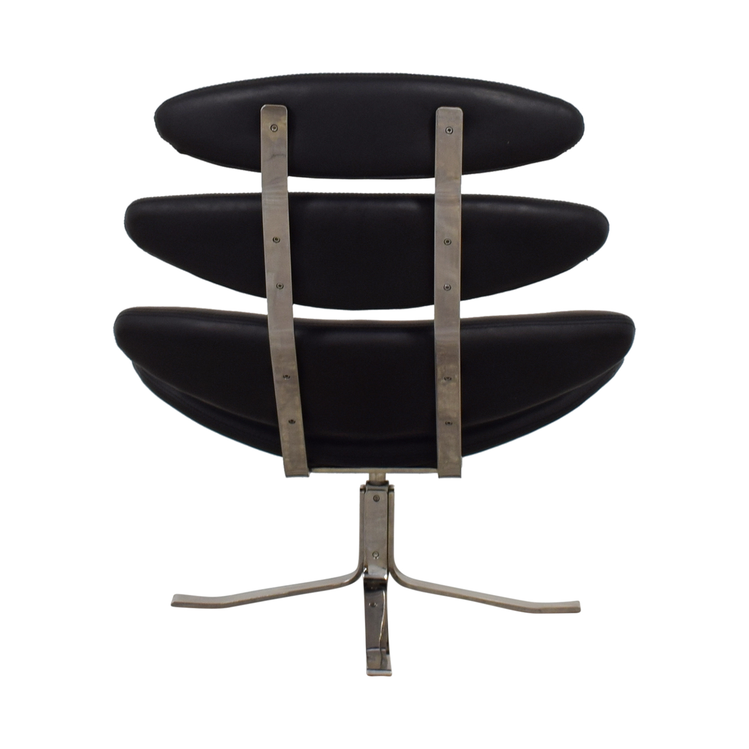 buy Crate & Barrel Black Leather Modern Accent Chair Crate & Barrel