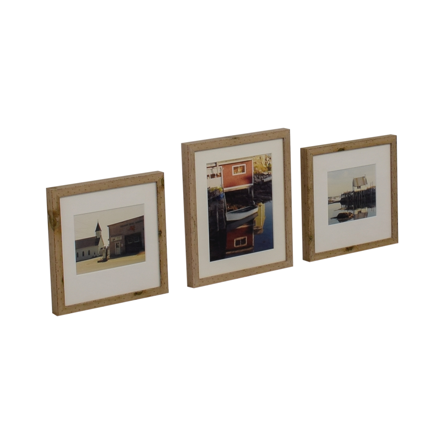 Original CT Seaside Photographs in Chelsea Rustic Wood Frames on sale