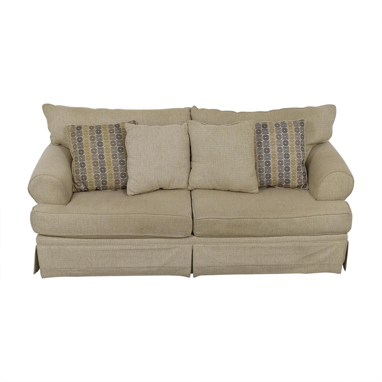 May Furniture May Furniture Stone Tweed Two-Cushion Sofa coupon