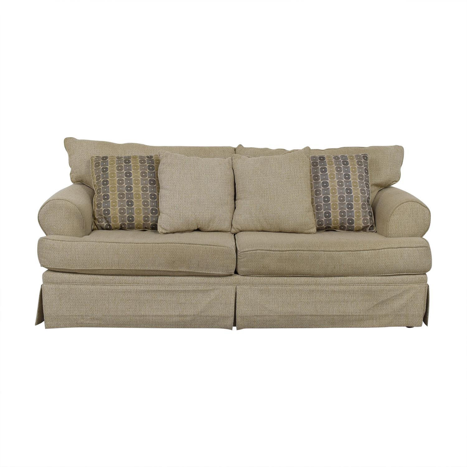 May Furniture May Furniture Stone Tweed Two-Cushion Sofa dimensions