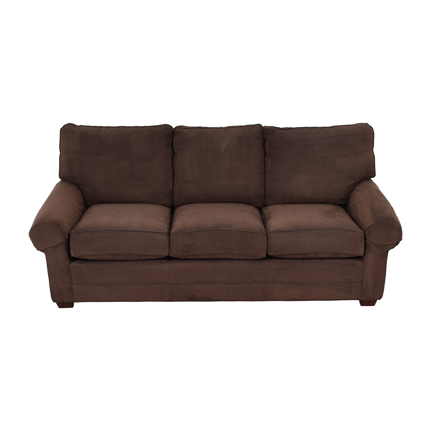 Masterfield Furniture Masterfield Furniture Brown Three-Cushion Couch on sale