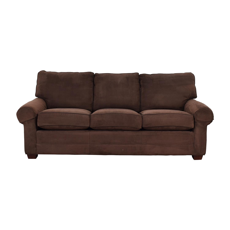 Masterfield Furniture Masterfield Furniture Brown Three-Cushion Couch Classic Sofas