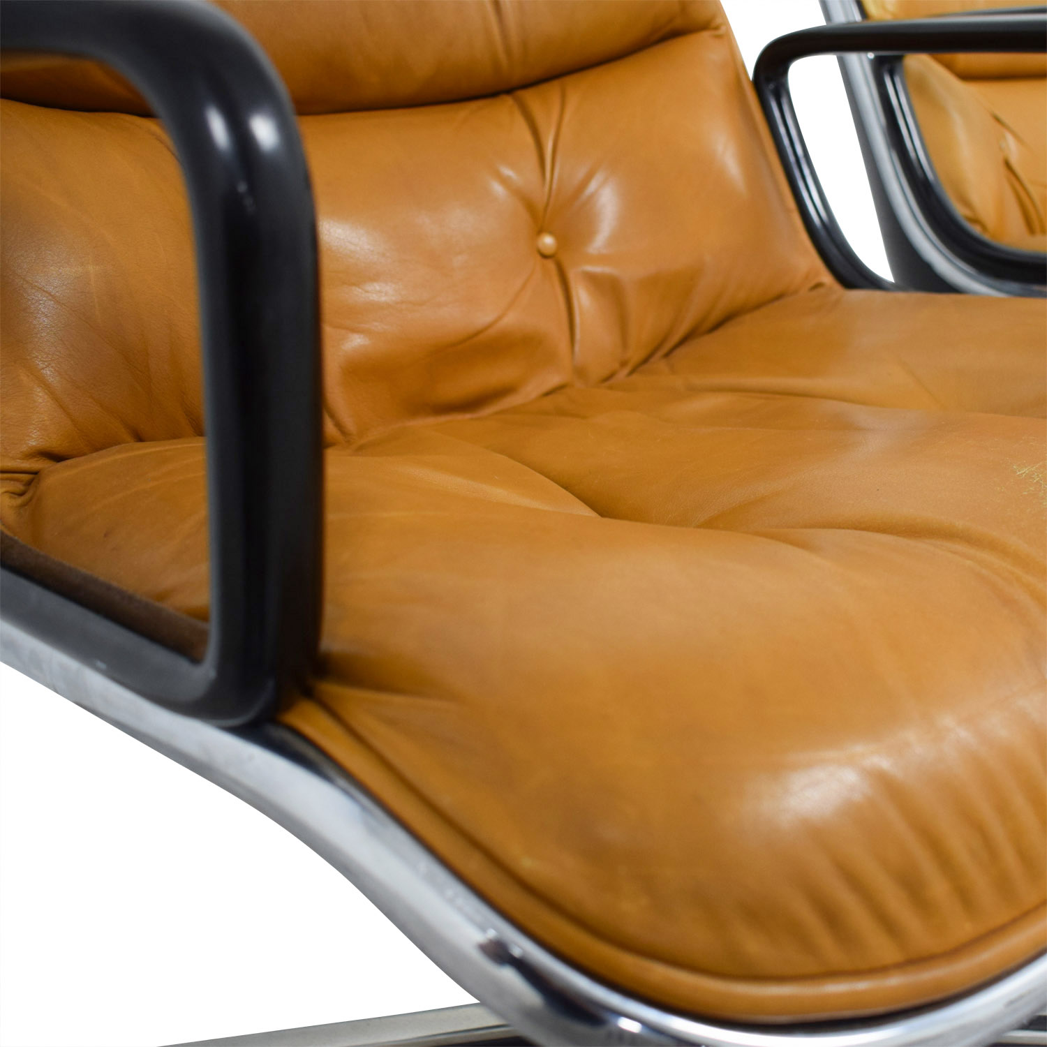 Knoll Knoll Pollock Cognac Leather Executive Chairs Chairs