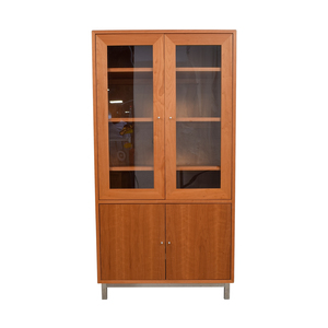 Room & Board Room & Board Wood and Glass Storage Armoire dimensions