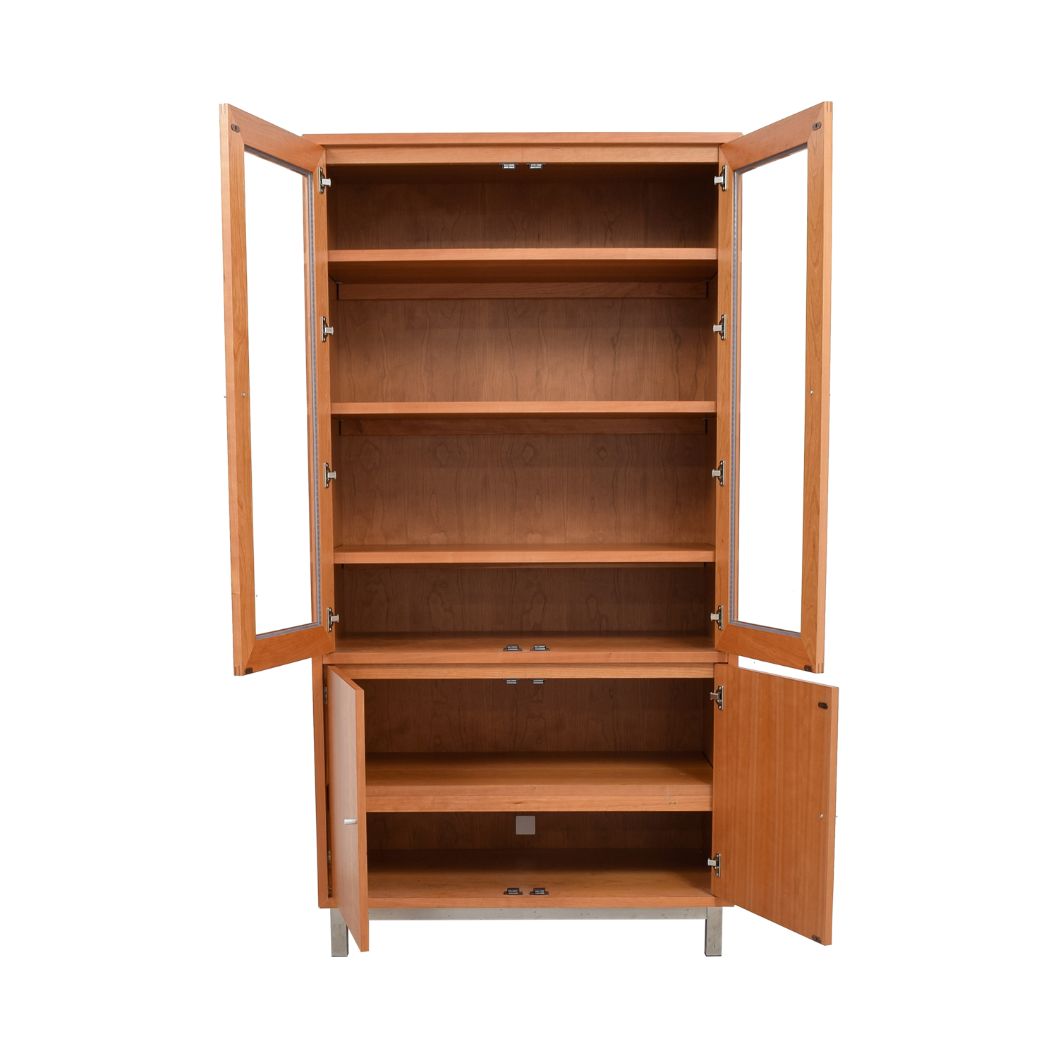 shop Room & Board Wood and Glass Storage Armoire Room & Board Sofas