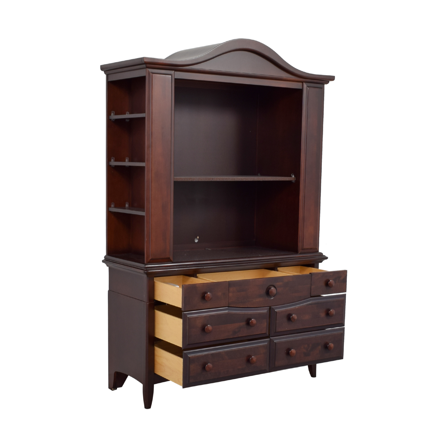 Regazzi Regazzi Morigeau-Lepine Sever Drawer Dresser and Hutch with Front and Side Shelves dimensions