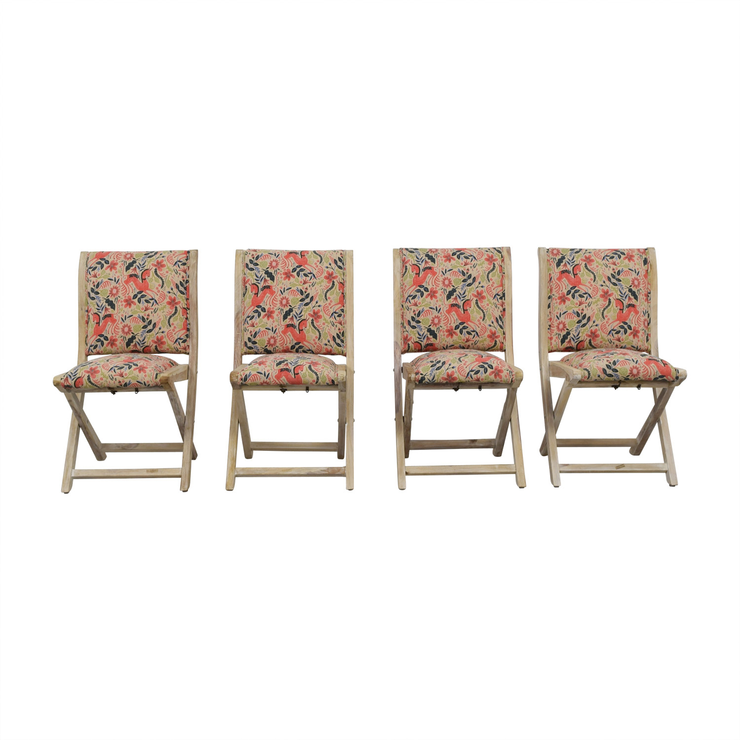 Anthropologie Anthropologie Rustic Multi-Colored Unicorn Folding Chairs Dining Chairs