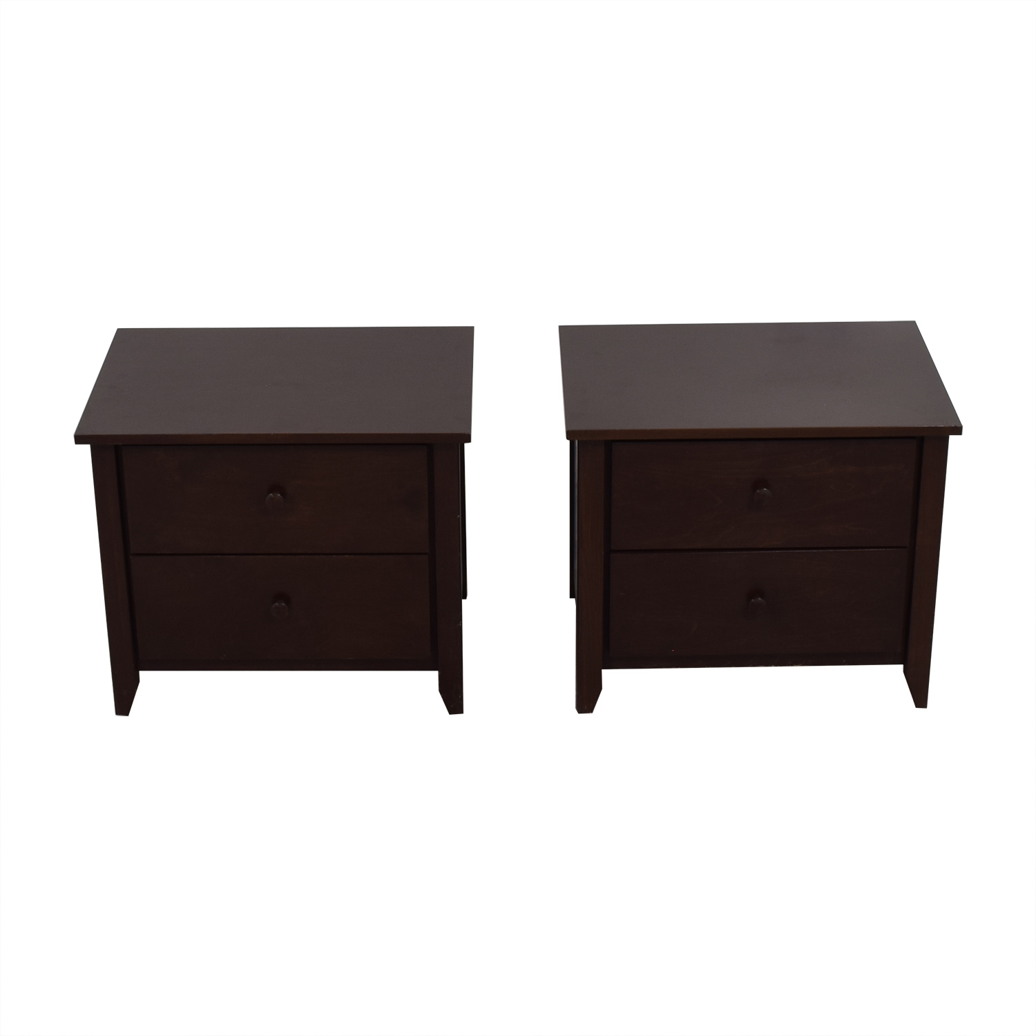 Gotham Cabinet Craft Wood Two-Drawer Night Stands / End Tables