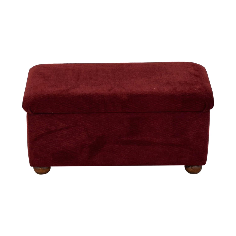 Burgundy Storage Bench Benches