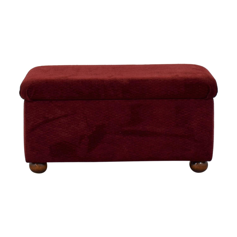 Burgundy Storage Bench on sale