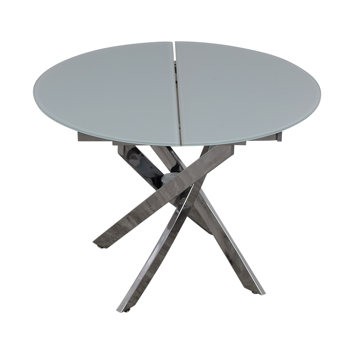 Lumens Lumens Glass and Chrome Extendable Dining Table nj