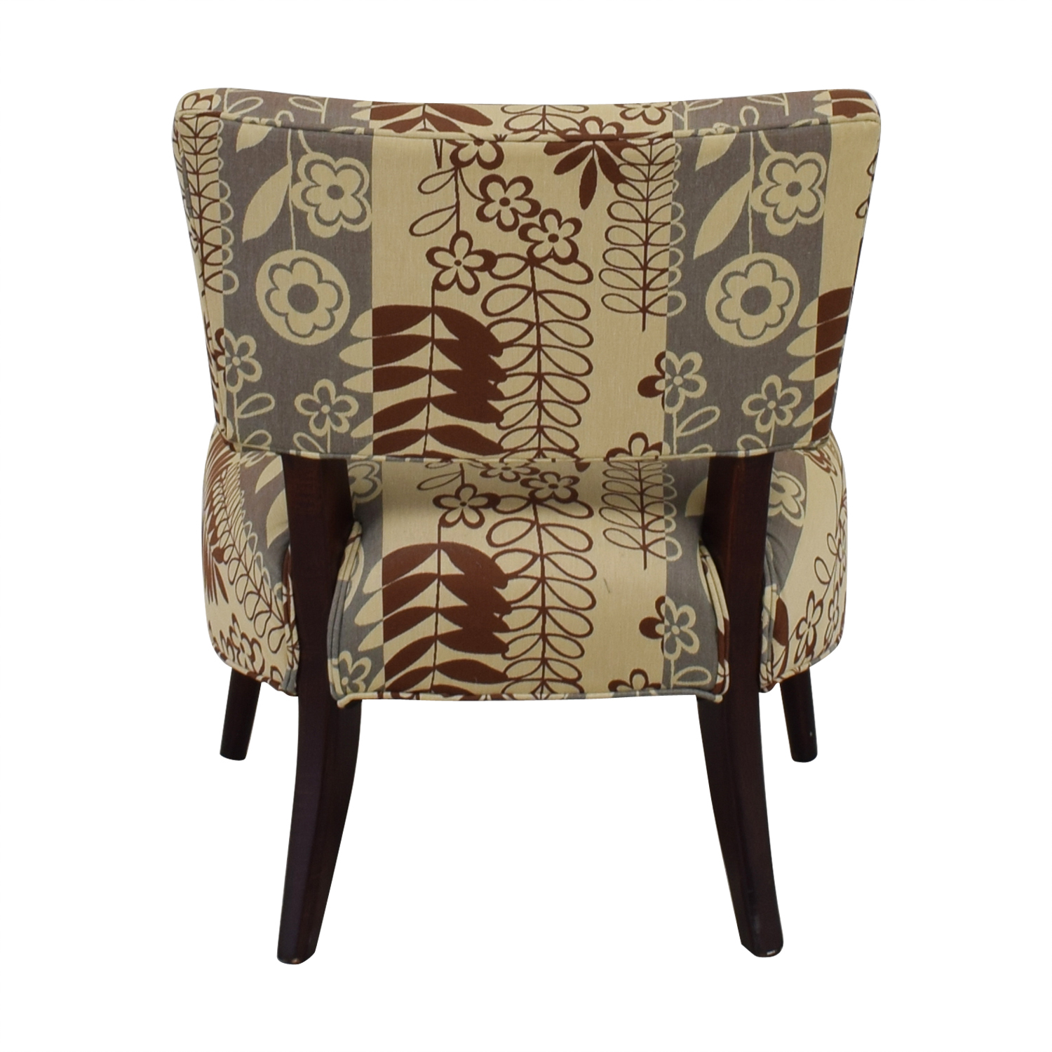 buy  Beige Multi-Colored Floral Upholstered Chair online