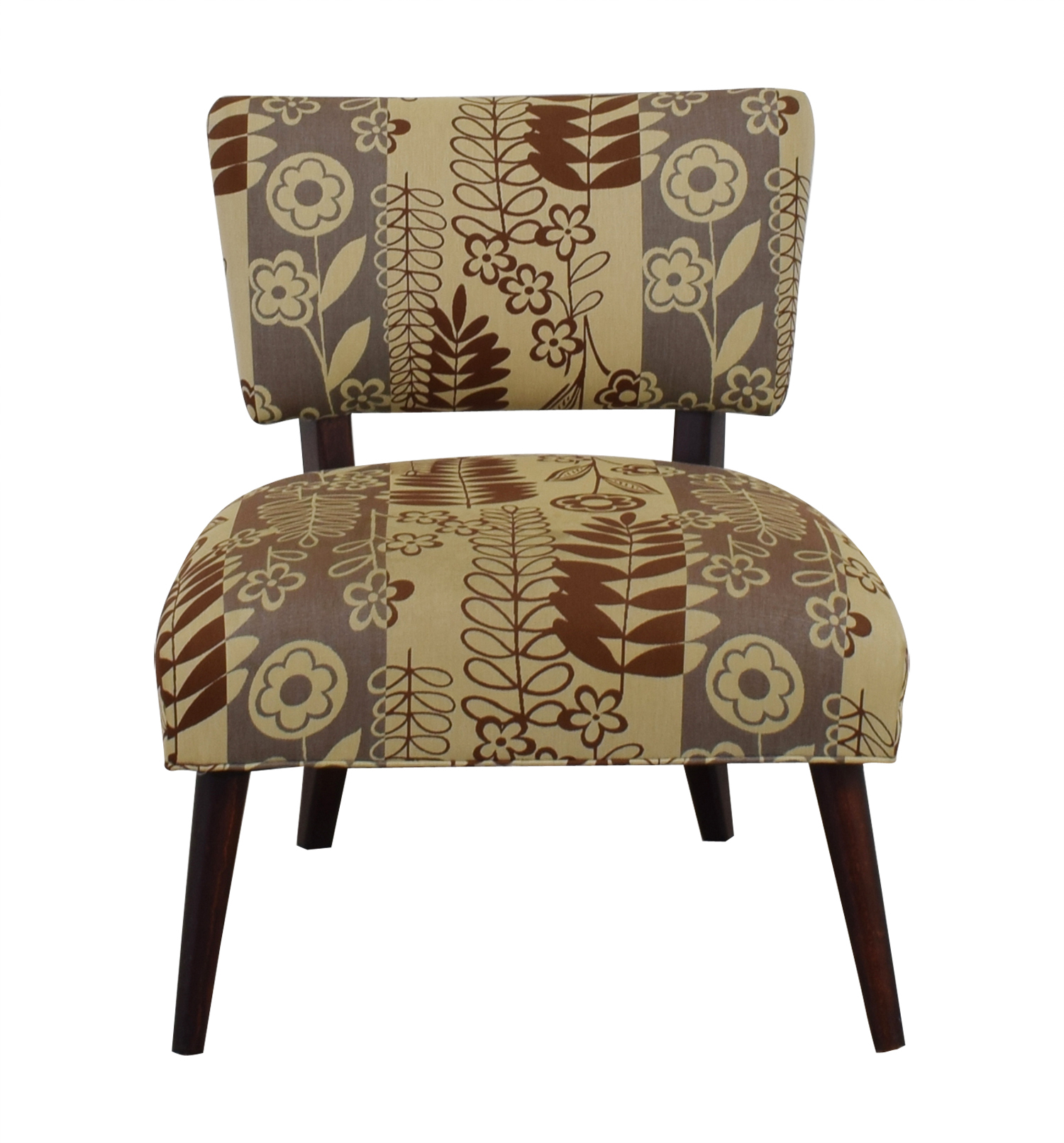 shop Beige Multi-Colored Floral Upholstered Chair  Sofas