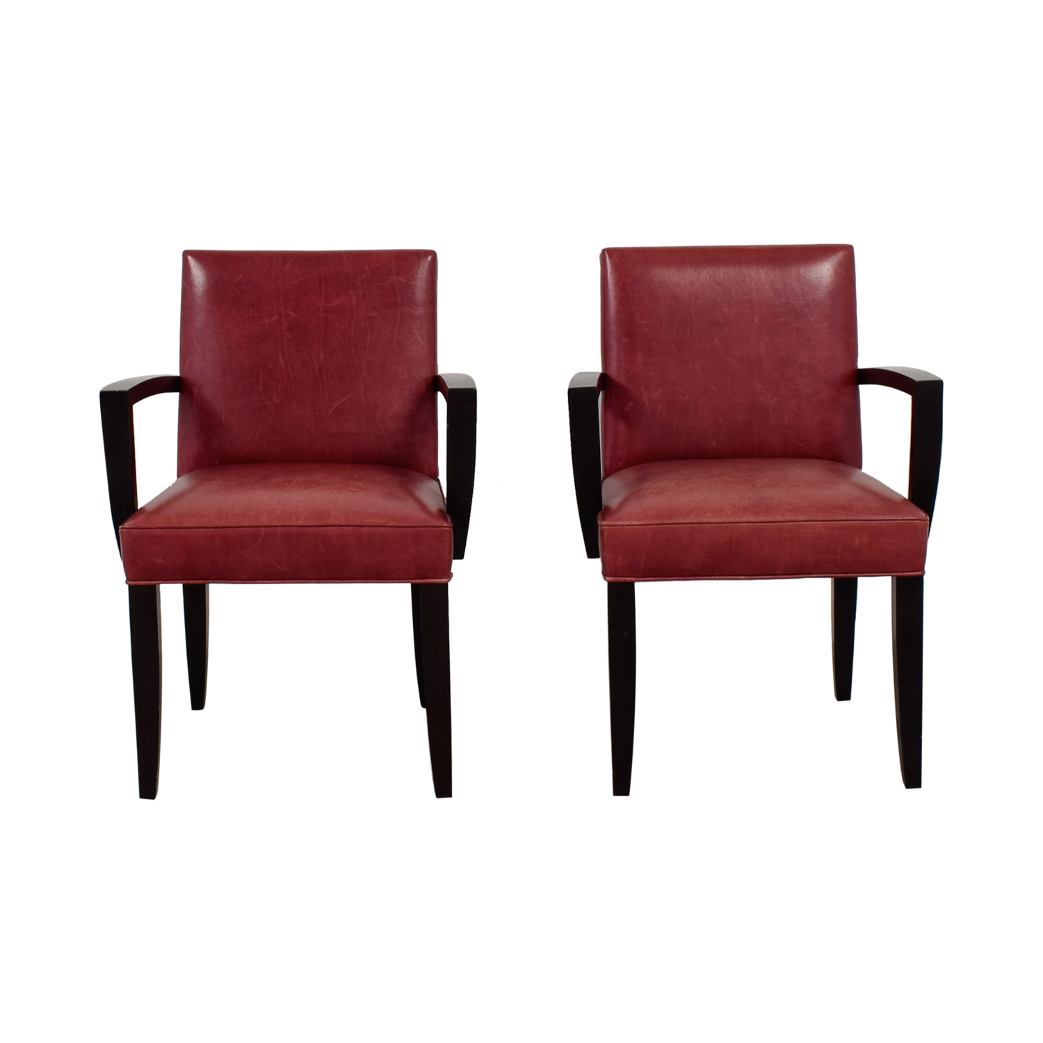 Red Leather Side Chairs for sale