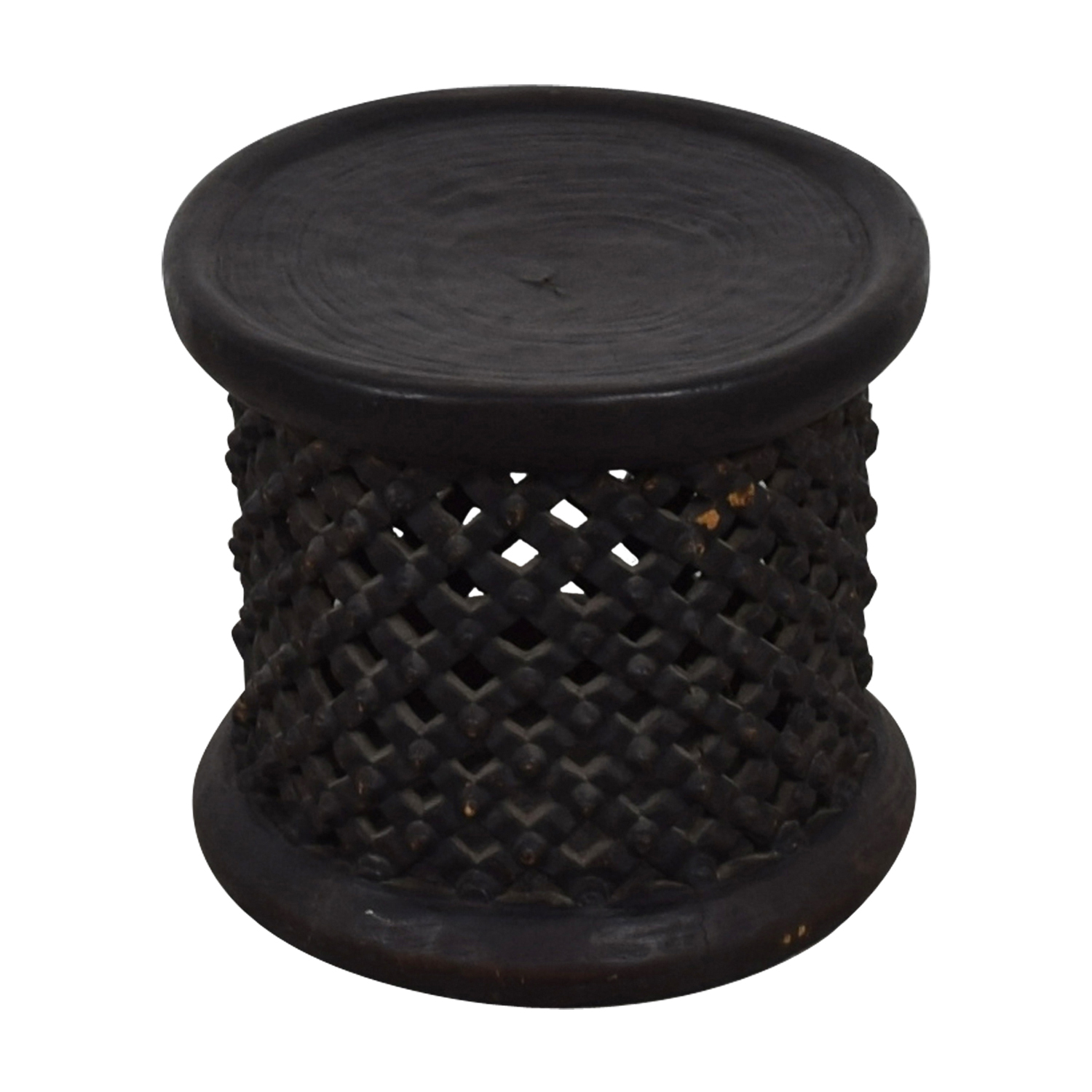 Brown Wood Accent Table BROWN