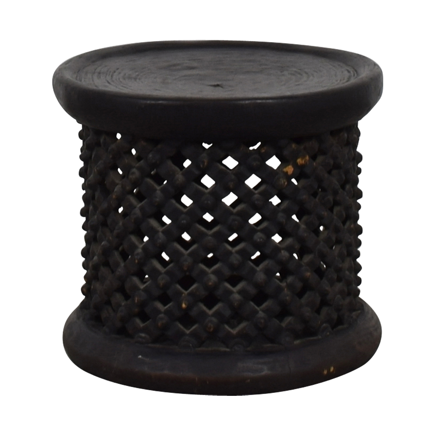 Brown Wood Accent Table on sale