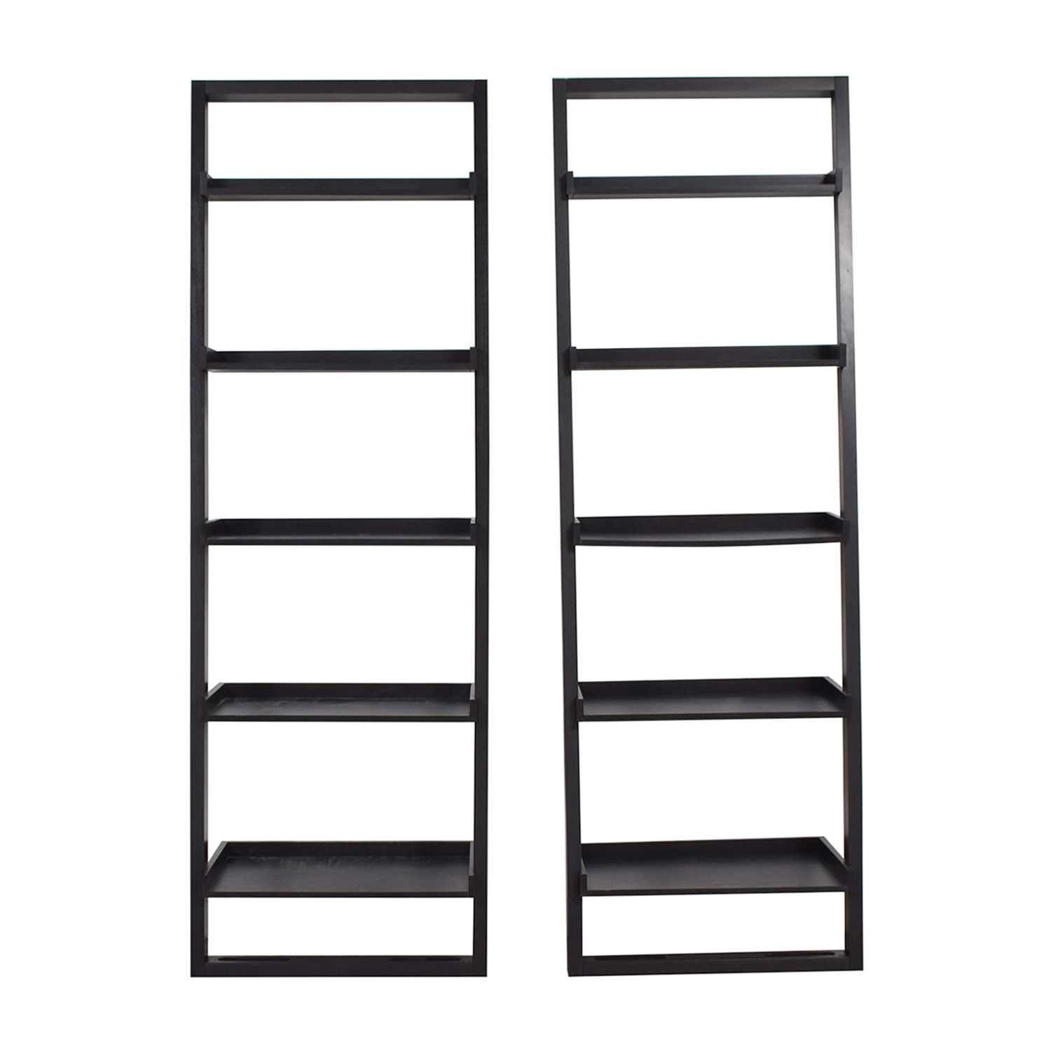 Crate & Barrel Black Leaning Bookshelves Crate & Barrel