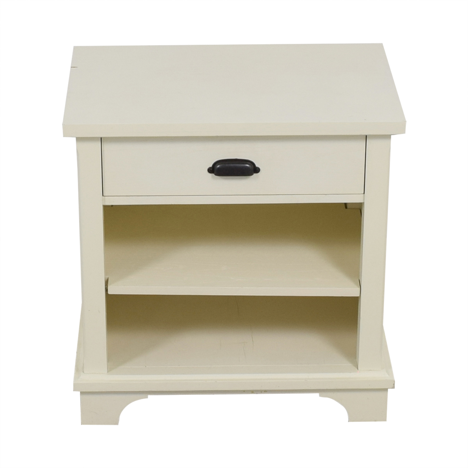 Pottery Barn Pottery Barn White Single Drawer Nightstand
