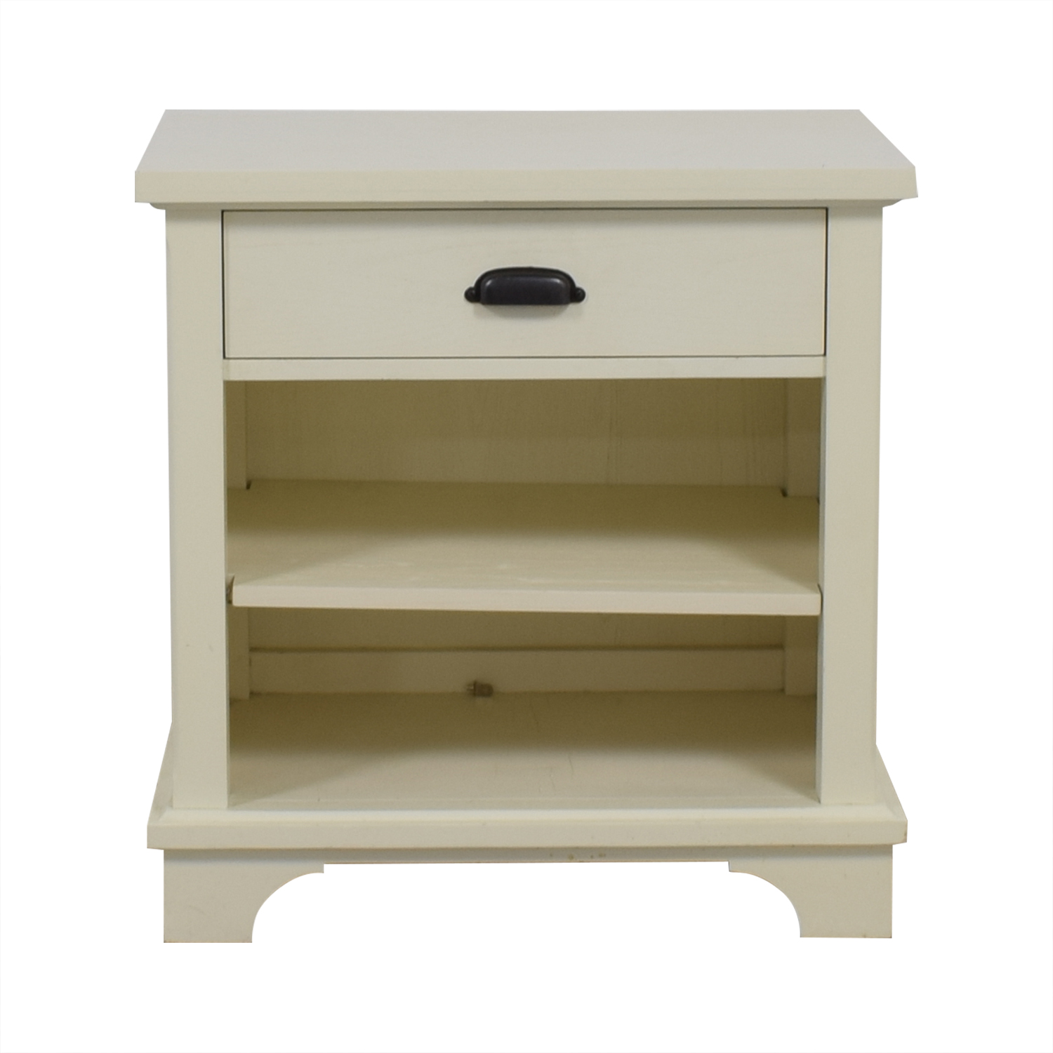 Pottery Barn Pottery Barn White Single Drawer Nightstand nj