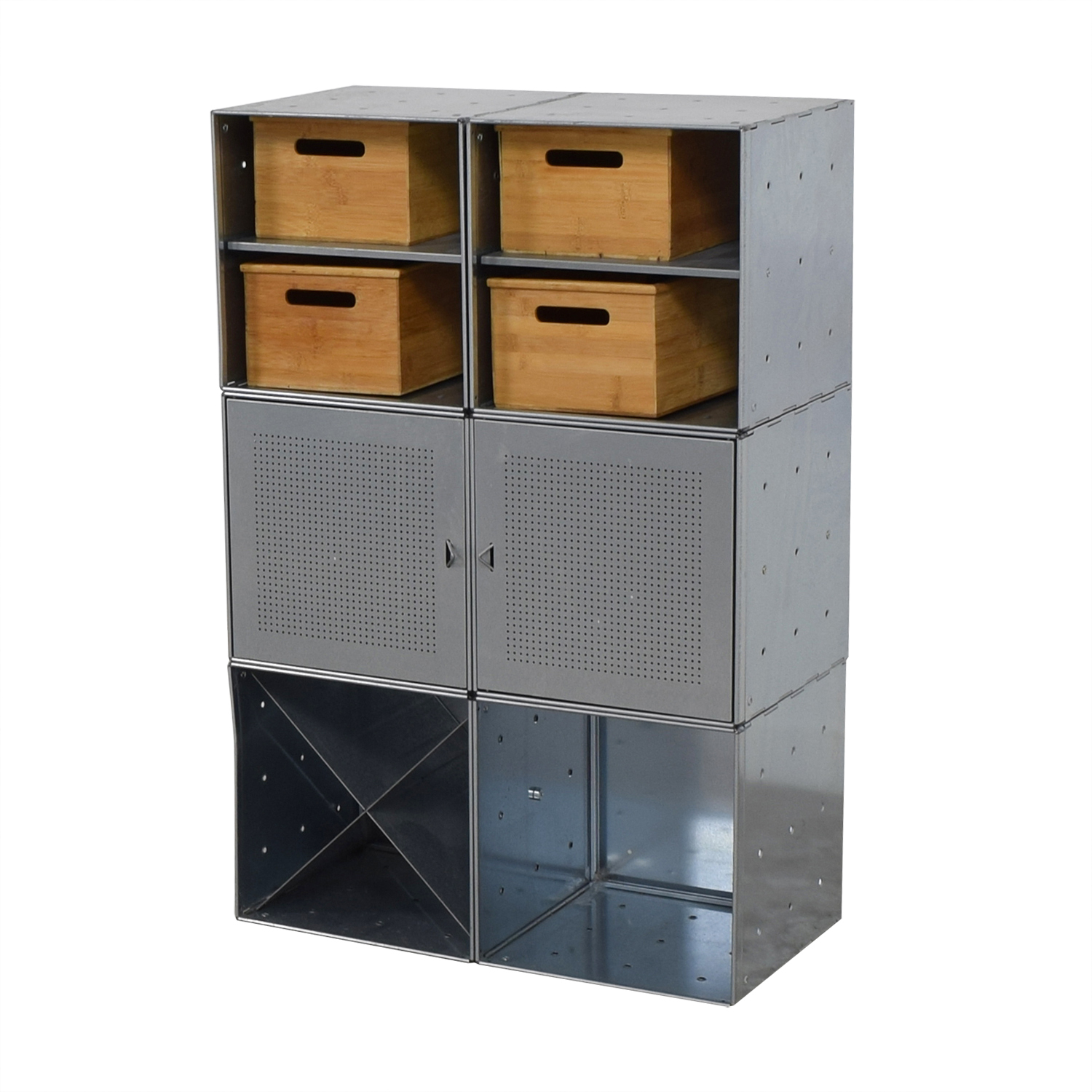 ... Container Store Container Store Metal And Wood Storage Console Storage  ...