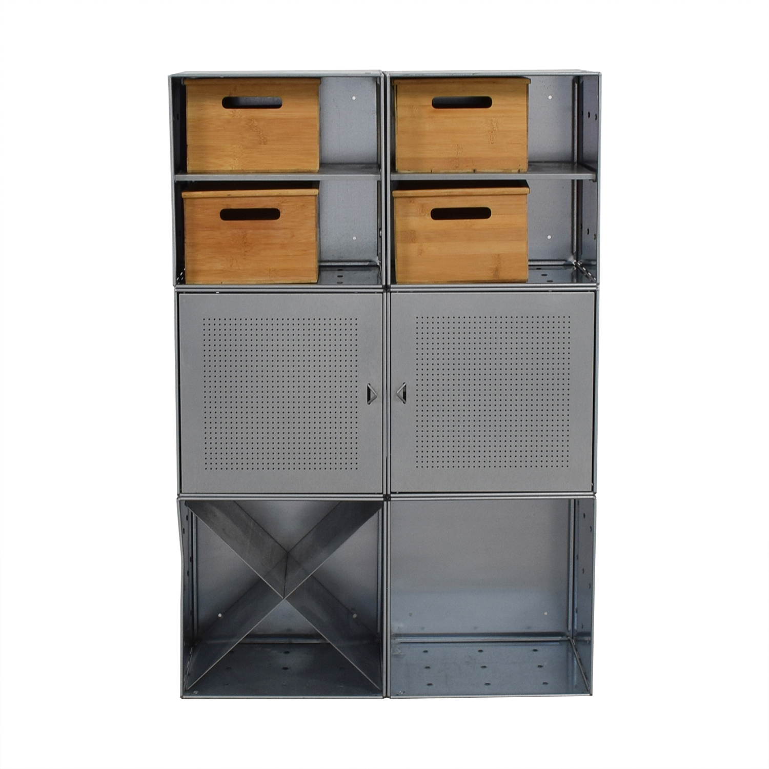 shop Container Store Metal and Wood Storage Console Container Store Storage
