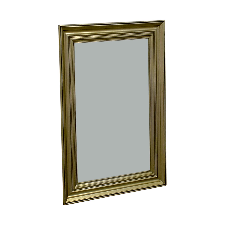 Pottery Barn Gold Framed Wall Mirror / Mirrors