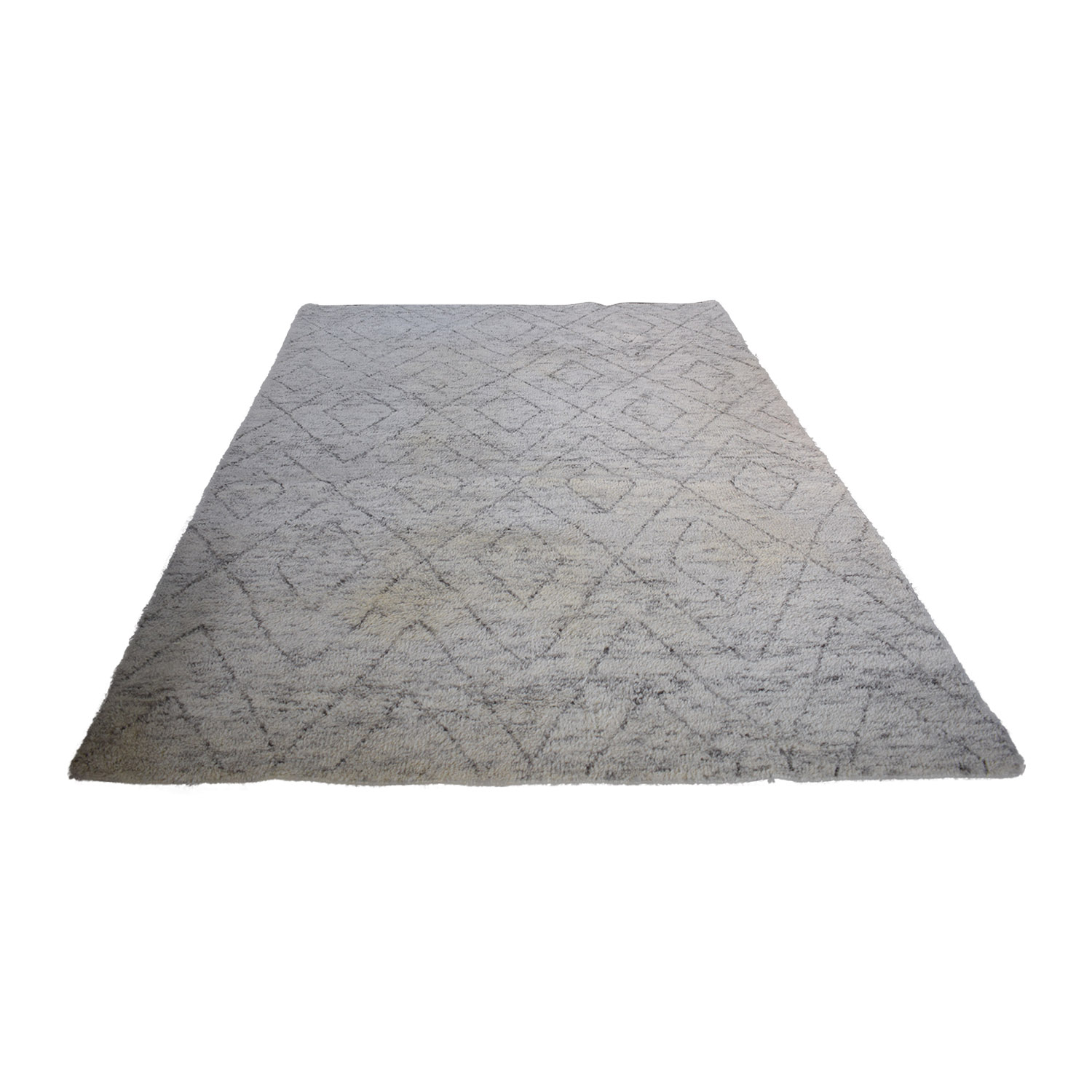 Restoration Hardware Double Diamond Moroccan Wool Rug / Rugs